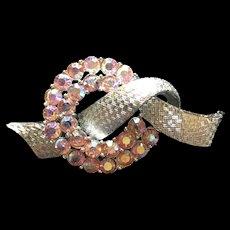 Coro Rhinetone Knot Pin Vintage