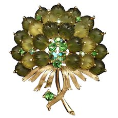Lisner Flower Bouquet Brooch Pin Vintage