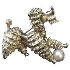 Boucher Poodle Dog Pin Vintage