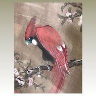 Antique Chinese Scroll Painting Chinoiserie Decor