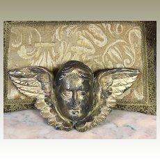 18th Century French Carved Gilt Wood Cherub