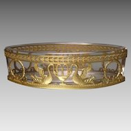 Antique French Empire Crystal Dore Bronze Jardiniere Napoleonic Ormolu Mounts