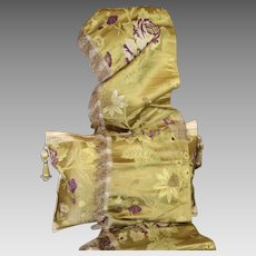 18th Century Spitalfields Silk Brocade Pelmet Antique Valence