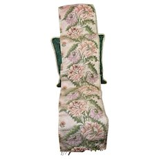 18th Century English Spitalfields Silk Brocade Panel  Flowers