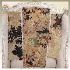 Antique French Aubusson Tapestry Panels THREE