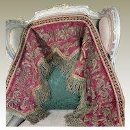 17th Century Italian Embroidery Valence Gold Metallic Needlework Applique