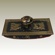 Antique French Empire Bronze Desk Blotter Neo Classical Napoleonic Ormolu Mounts