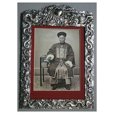 Magnificent Antique Chinese Silver  Picture Frame WANG HING