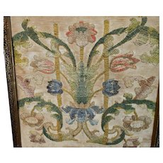 17th Century Florentine Embroidery Flowers Baroque Needlework