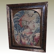 Late 16th early 17th Century French Renaissance Figural Aubusson Tapestry Weave