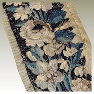 17th Century French Aubusson Tapestry Panel Flowers