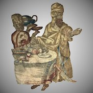 17th Century Brussels Tapestry Wall Hanging Impressive Figural Flemish Textile