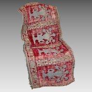 Crica 1600 Italian Embroidered Velvet Altar Cloth Metallic Stumpwork Catholic Embroidery