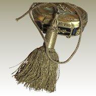 Antique French Empire Gold Metallic Chateau Tassel Curtain Tieback
