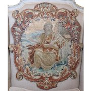 Antique French Louis XV Embroidery Stumpwork  Needlework Panel