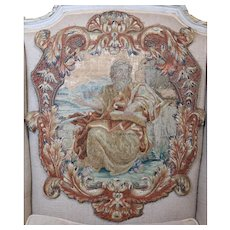 Antique French Louis XV Embroidery Stumpwork  Needlework Panel