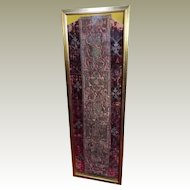 15th Century Chasuble Back Italian Velvet Metallic Embroidered Orphrey Panel