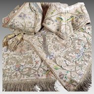 17th Century Ecclesiastical Embroidered Silk Religious Stole Vestment