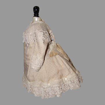 """Artist Made Dress, Bonnet, and Slip in the French Manner 13"""" Long"""