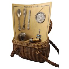 French Basket with Silverware