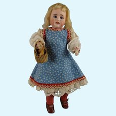 "13"" German Bisque Child 41-23 by Kuhnlenz with Great Expression"