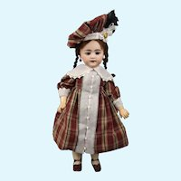 """22"""" S&H 719 with Slightly Opened Mouth and Square Teeth Early Doll"""