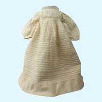 Authentic Dress and Matching Pinafore for a Bisque Head Doll