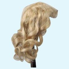Smaller Antique Blonde Mohair Wig For Bisque Head Dolls