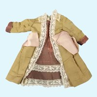 """Authentic French Dress with Damage For Small Doll 12""""-13"""""""