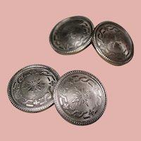 Antique Edwardian Platinum & 14K Gold Cufflinks