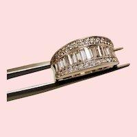 Estate Baguette Diamond 14K White Gold Band