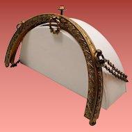 Antique Purse Frame Laurel Wreath Clasp