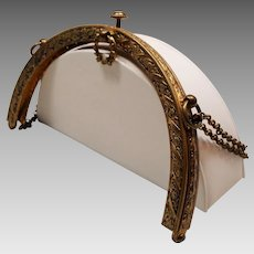 Antique Purse Frame Laurel Wreath Clasp