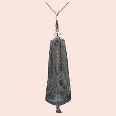 Vintage Art Deco Sterling Mesh Hand Bag Purse