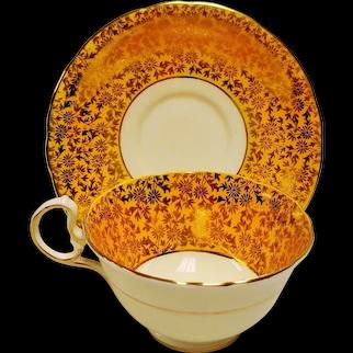 Vintage Aynsley Harvest Gold Bone China Teacup