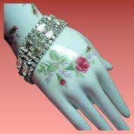 Vintage Elegant Colorless Baguette Rhinestone Bracelet