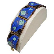 Vintage Germany Mid Century Enamel Copper Bracelet