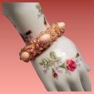 Vintage KJL Kenneth J Lane Grace Collection Hinged Bangle Bracelet