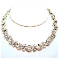 Vintage Lisner Colorless Rhinestone Necklace