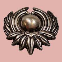 Vintage Los Castillo Mexican Silver 298P Brooch Pin