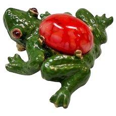 Vintage Mimi Di N Small Frog Brooch