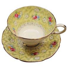 Vintage Paragon Evangeline Yellow English Bone China Teacup and Saucer
