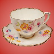 Vintage Paragon Blackthorn English Bone China TeaCup and Saucer