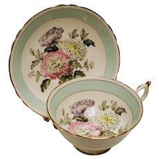 Vintage Paragon Double Warrant Chrysanthemum Flowers Teacup