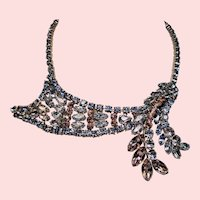 Vintage Standout Pastel Rhinestone Dimensional Swag Necklace
