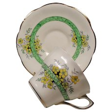 Vintage Rosina England Lattice Flowers Teacup & Saucer