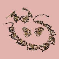Vintage Schiaparelli Faux Baby Tooth Pearl Necklace Bracelet Earrings Parure