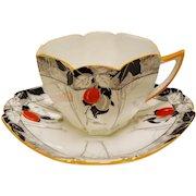 Vintage Shelley England Queen Anne Damson Plum Teacup