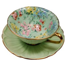Vintage Shelley Chintz Melody Oleander Teacup & Saucer