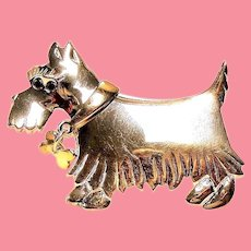 Vintage Sterling Scottie Dog Pin